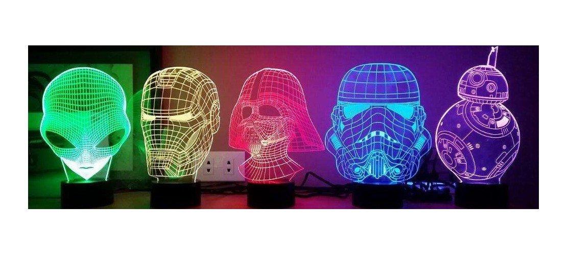 Lámparas holográficas 3D