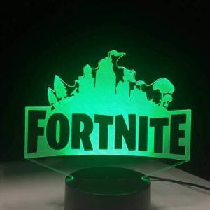 lámpara holograma fortnite verde