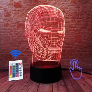 iron man hologram lamp rojo