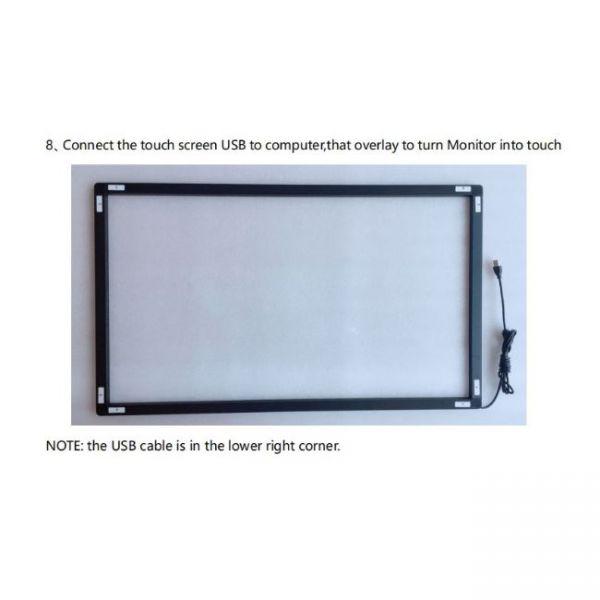 Marco de pantalla táctil multi infrarroja dimensiones