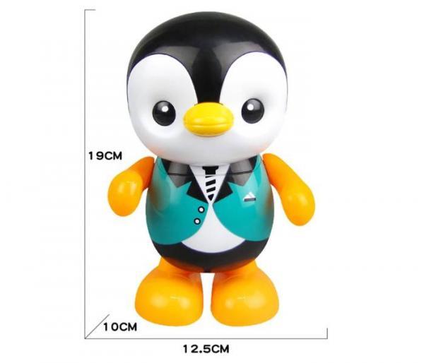 música bailando pingüino de juguete dimensiones