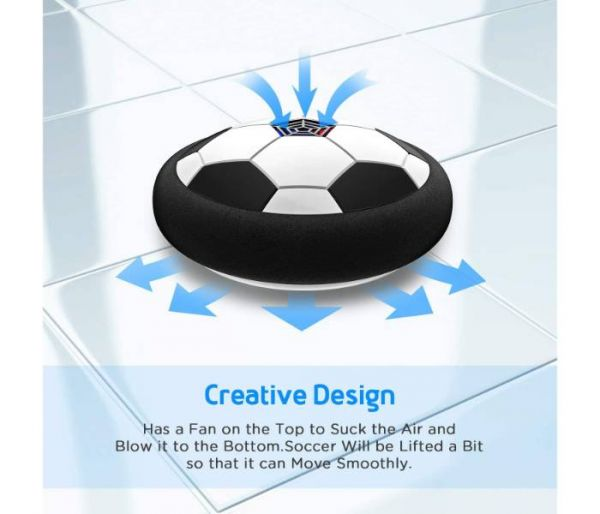 disco de fútbol levitando diseño creativo
