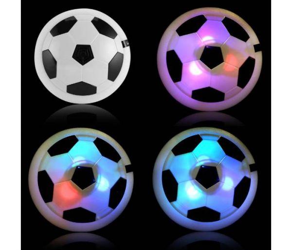 disco de fútbol levitando luces led