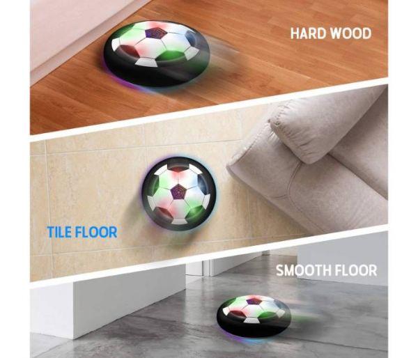 disco de fútbol levitando superficies