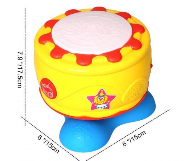 Tambor Musical con Luz para Bebés dimensionsones