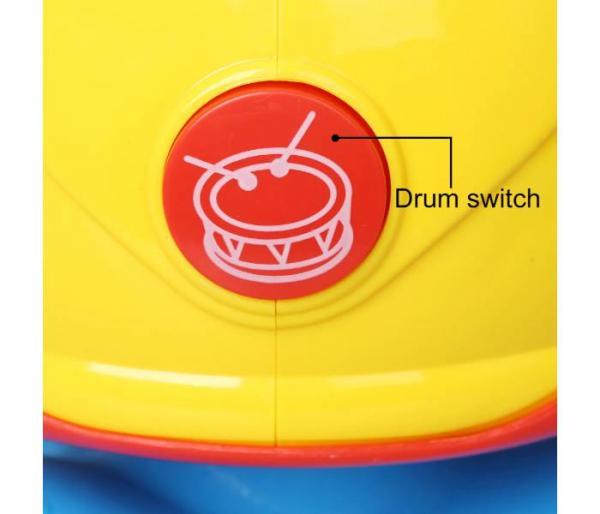 tambor musical giratorio con luz interruptor de tambor