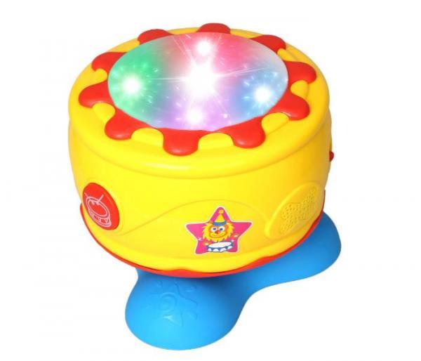 tambor musical giratorio con luz