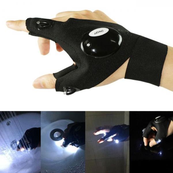 Luz futurista de guantes para dedos para múltiples usos