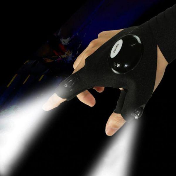 Luz futurista de Finger Gloves para la noche