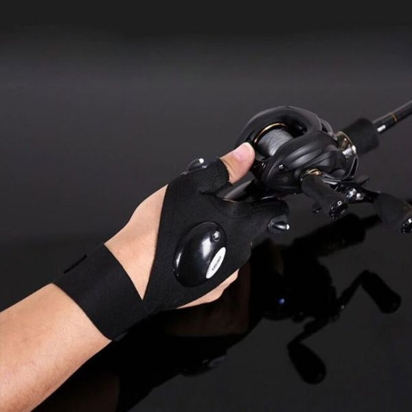 Luz futurista de Finger Gloves para pescar