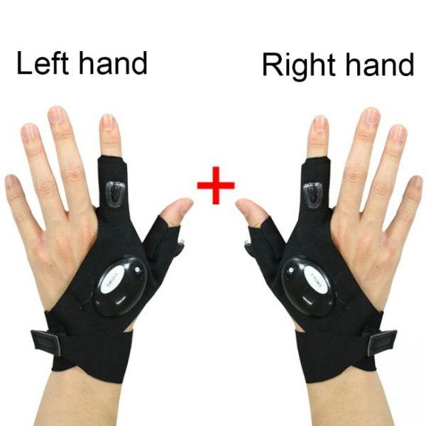 Luz futurista de Finger Gloves para mano izquierda y derecha