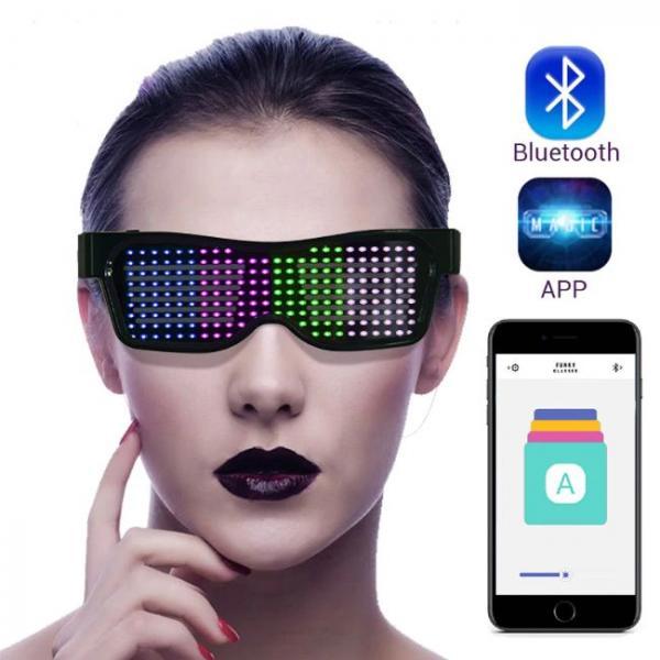 Gafas LED Bluetooth controladas por teléfono inteligente