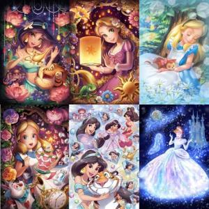 Pintar con diamantes en 5d Princesas de cuento de hadas