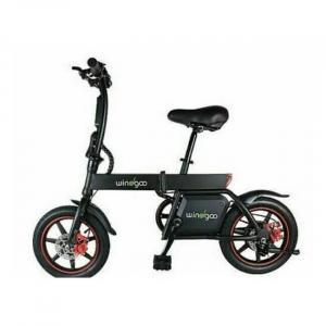 Bicicleta eléctrica negra plegable fácil