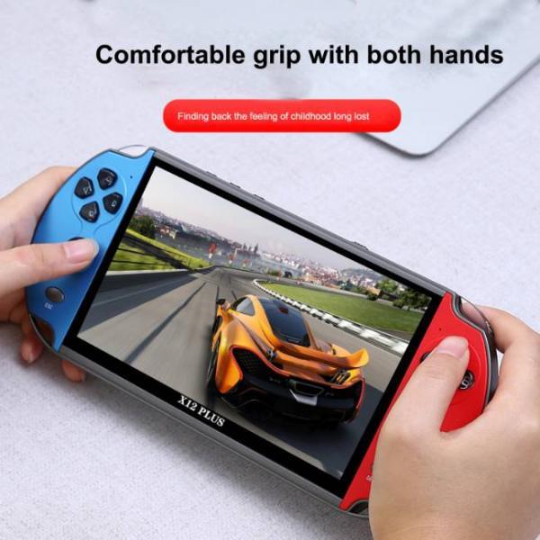 Potente consola de juegos portátil que admite juegos de PS1 y SNES con agarre cómodo