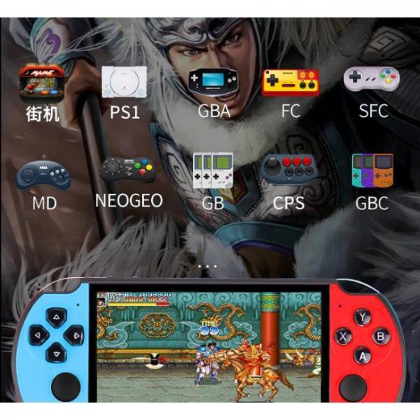 Potente consola de juegos portátil que admite juegos de PS1 y SNES y otros formatos de juego