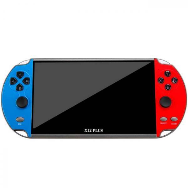 Rojo y azul potente consola de juegos portátil que admite juegos de PS1 y SNES