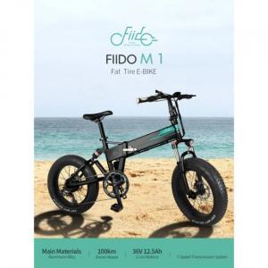 Bicicleta eléctrica Fiido M1 con neumáticos grandes y alto kilometraje