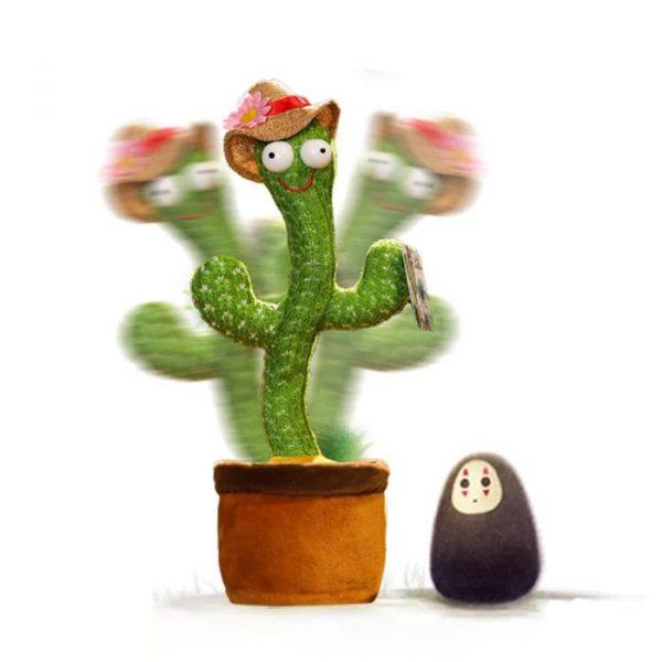 cactus hablando y bailando con control remoto