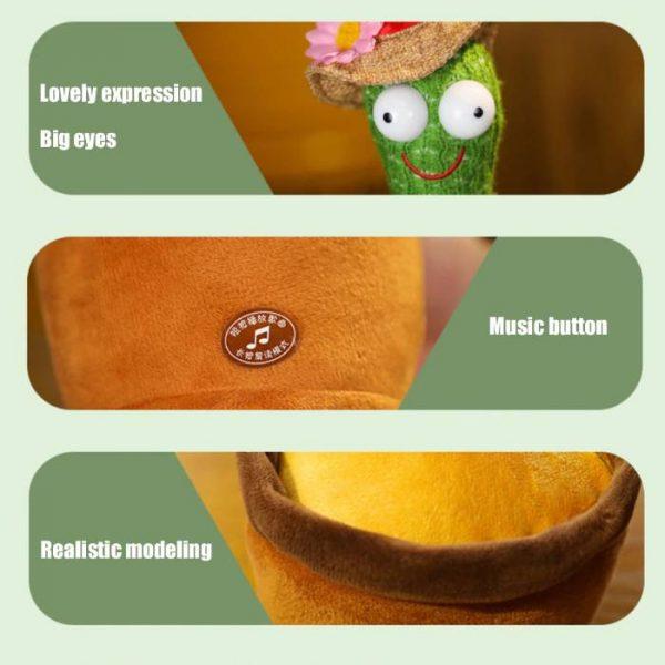cactus que habla y baila con muchas características