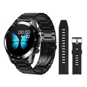Reloj inteligente deportivo impermeable completo de silicona lisa negro