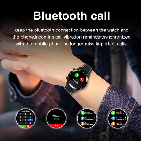 reloj inteligente deportivo completamente impermeable con llamadas bluetooth