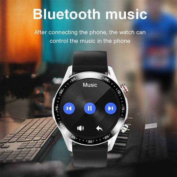 reloj inteligente deportivo completamente impermeable con música bluetooth