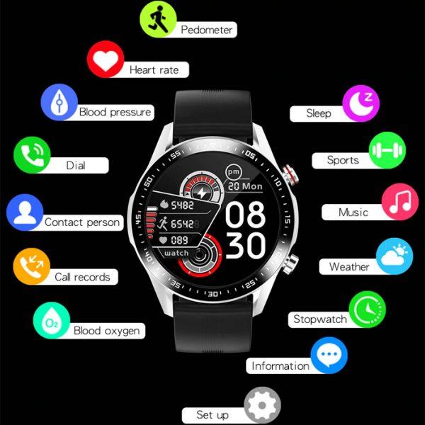 reloj inteligente deportivo completamente impermeable con muchas funciones