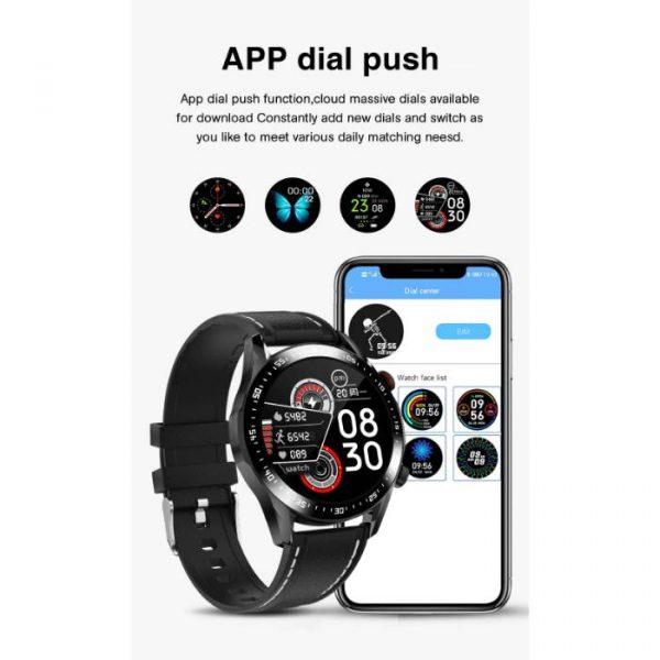 reloj inteligente deportivo totalmente impermeable con notificaciones push de dial de aplicación