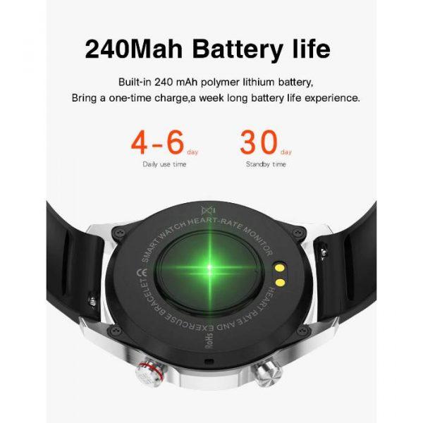 reloj inteligente deportivo totalmente impermeable con batería de gran capacidad