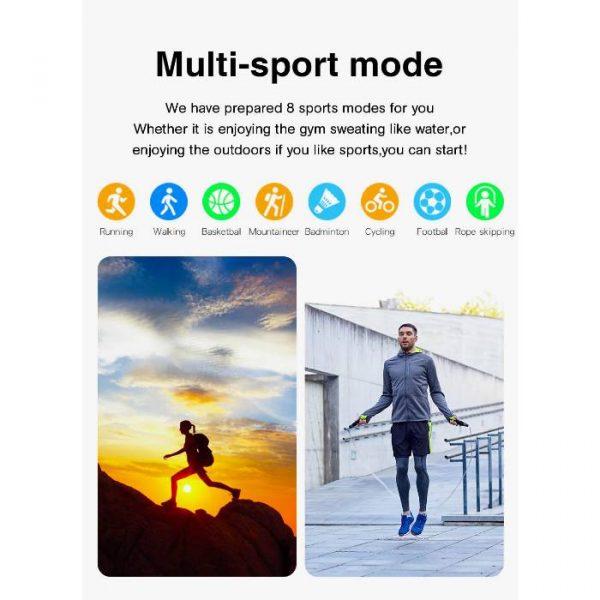 reloj inteligente deportivo completamente impermeable con múltiples ejercicios