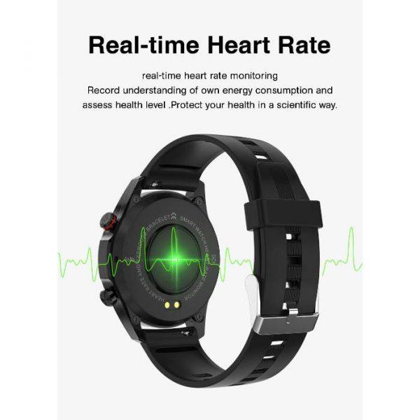 reloj inteligente deportivo totalmente impermeable con frecuencia cardíaca en tiempo real