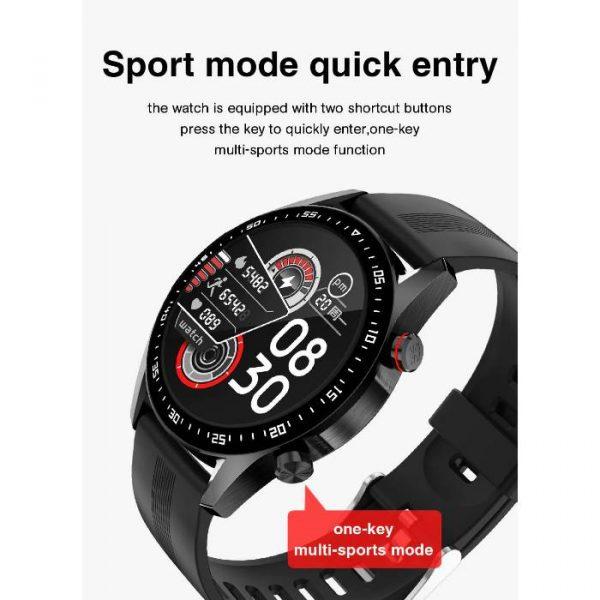 reloj inteligente deportivo totalmente impermeable con entrada rápida al modo deportivo