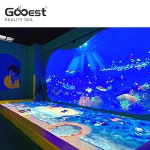 pintura digital interactiva innovadora con peces realistas