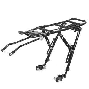 Portaequipaje trasero para bicicleta eléctrica ADO que es robusto y fuerte